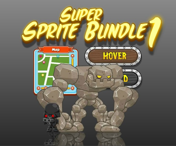 Super Sprite Bundle 1 - Royalty Free Game Art