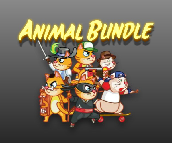Animal Character Bundle of Royalty Free Game Art