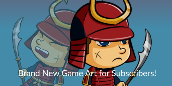 Brand New Game Art for CartoonSmart Subscribers – The Armored Samurai