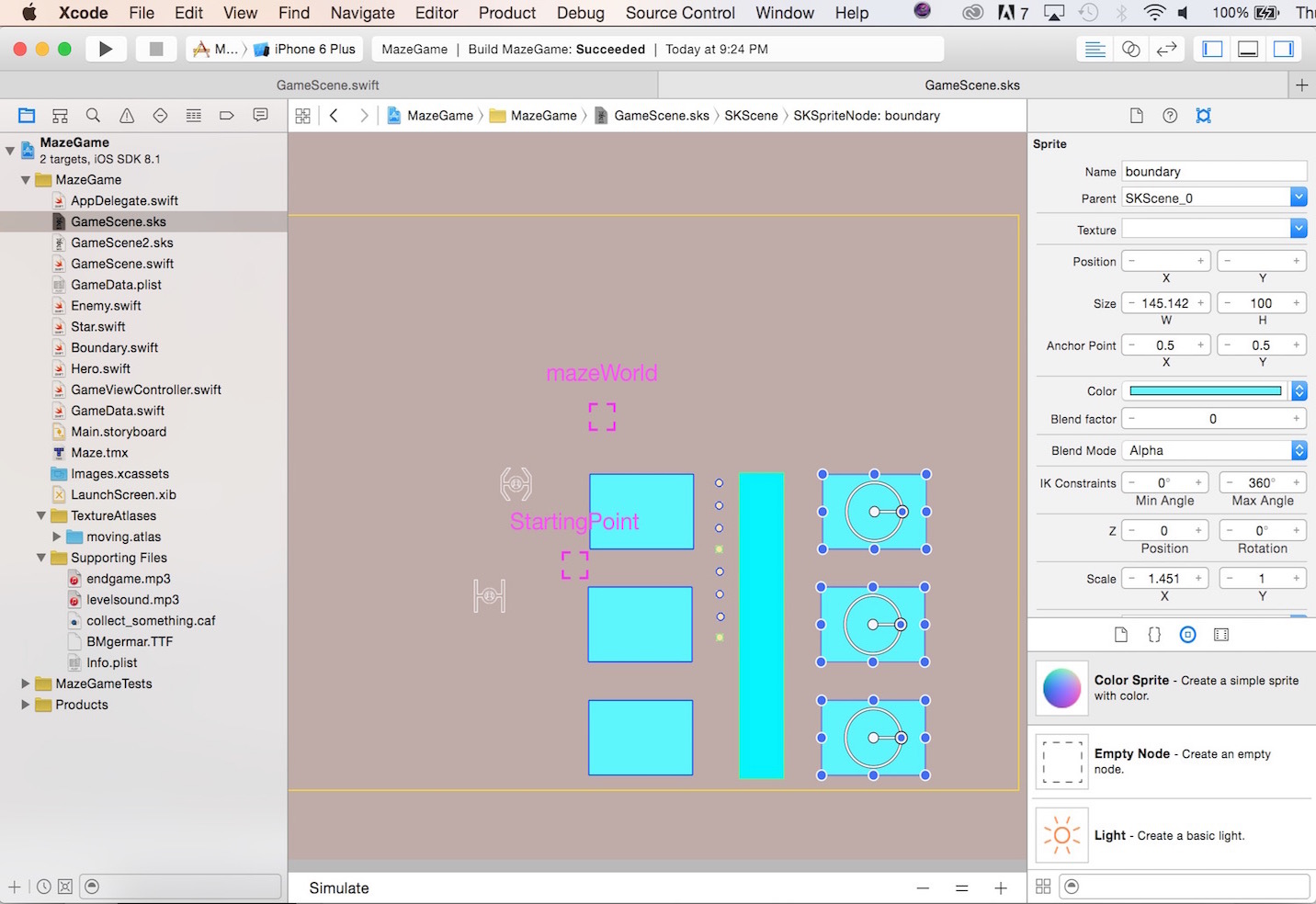 Learn How to Layout with Sprite Kit Scene Editor and Swift