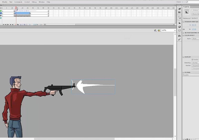 Adobe Flash animation tutorial on 2D special FX