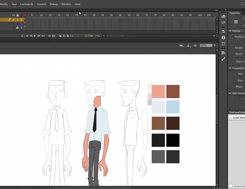 Adobe Flash 2D Rigging Video Tutorial _