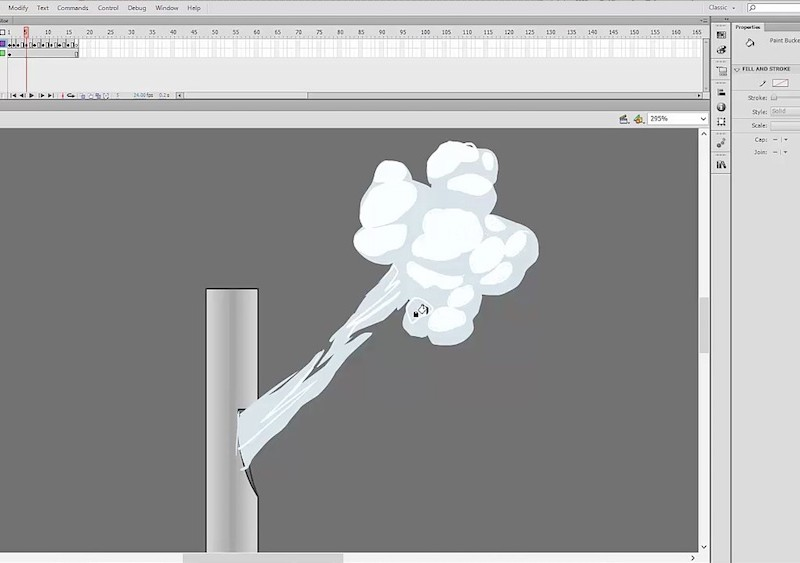 Adobe Flash animation tutorial on 2D special FX 1