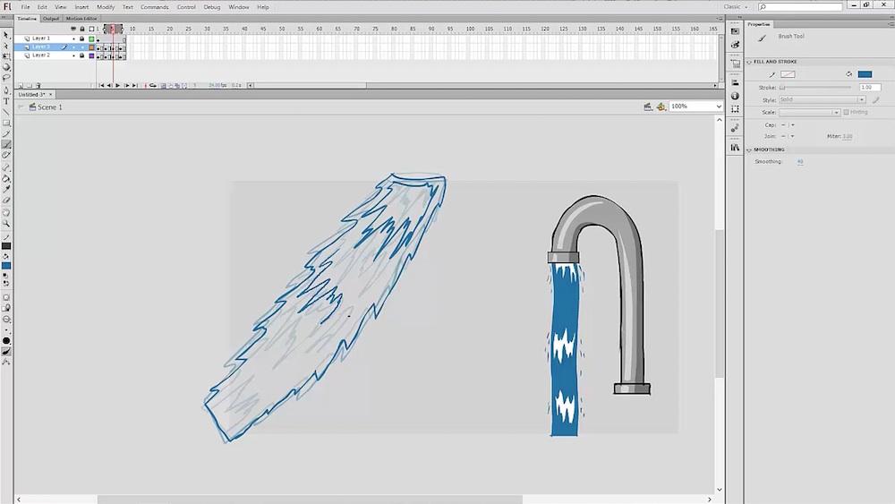 Adobe animate or flash animation video tutorial bundle.