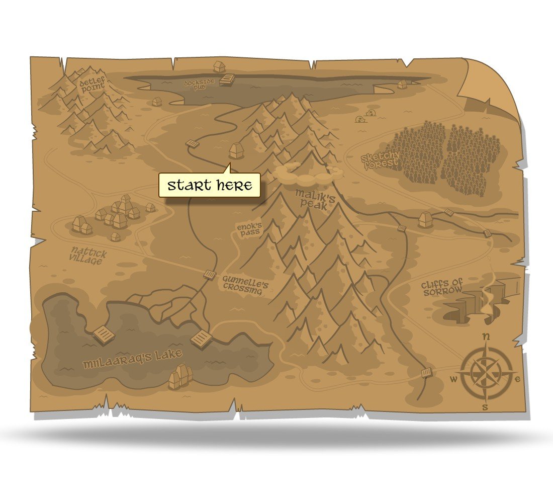 How to draw a game map