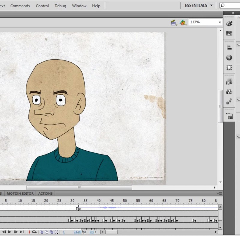 Flash Animation Tutorial - Head Movements