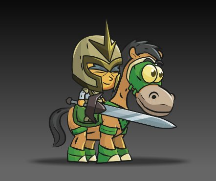 Royalty Free Game Art Knight on Horseback4