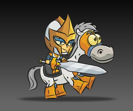 Royalty Free Game Art Knight on Horseback3
