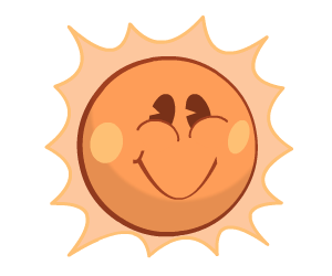 Super Happy Animated Sun