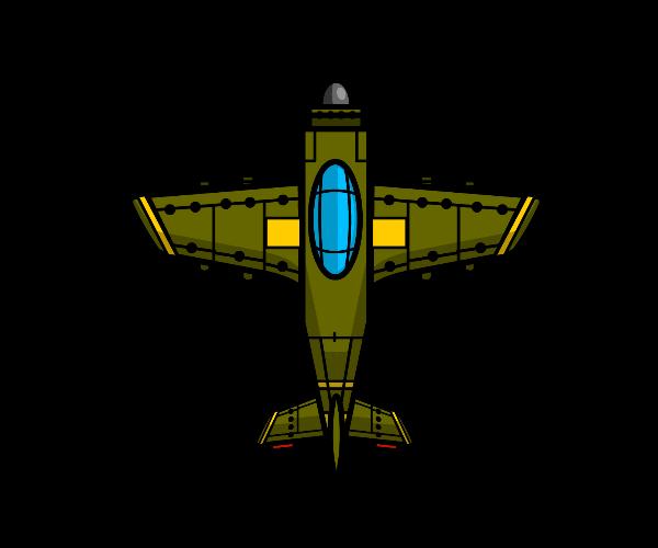 Top Down Green Plane