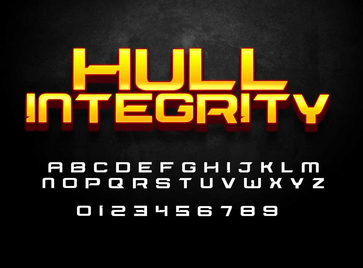 Hull Integrity Sci Fi Style Font Cartoonsmart Com