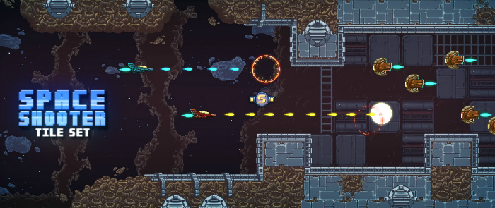 royalty free game art space shooter tileset-