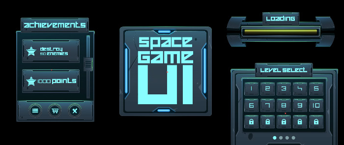 Space Game user interface for app
