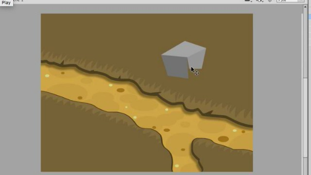 How to Draw Level Terrain Art in Adobe Animate or Flash video tutorials 1