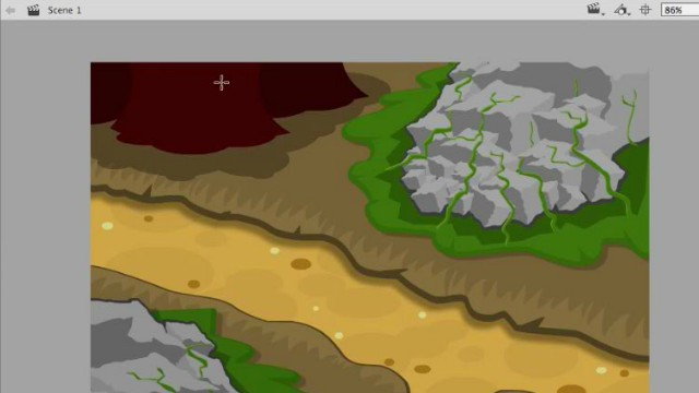 How to Draw Level Terrain Art in Adobe Animate or Flash video tutorials 2
