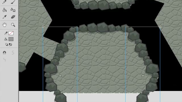 How to Draw Level Terrain Art in Adobe Animate or Flash video tutorials 5