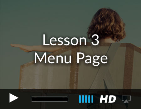 Tutorial 3 – Menu Page