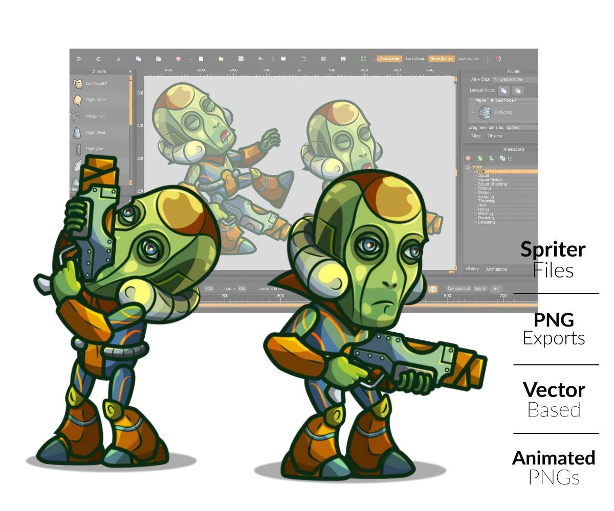 Alien Boss Royalty Free Game Art