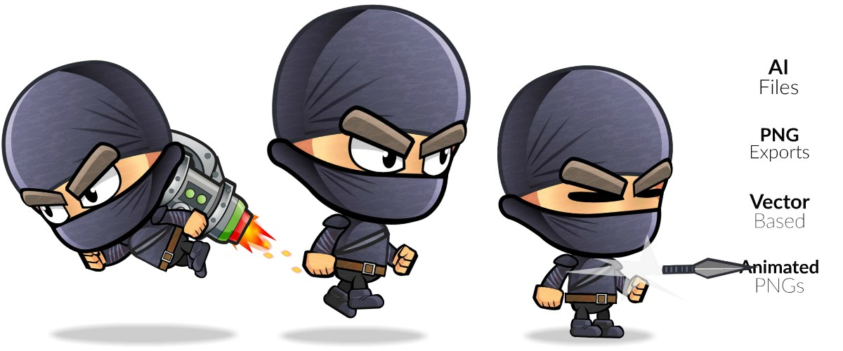 ninja royalty free game art