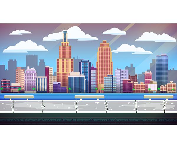 City Vector Background | CartoonSmart.com