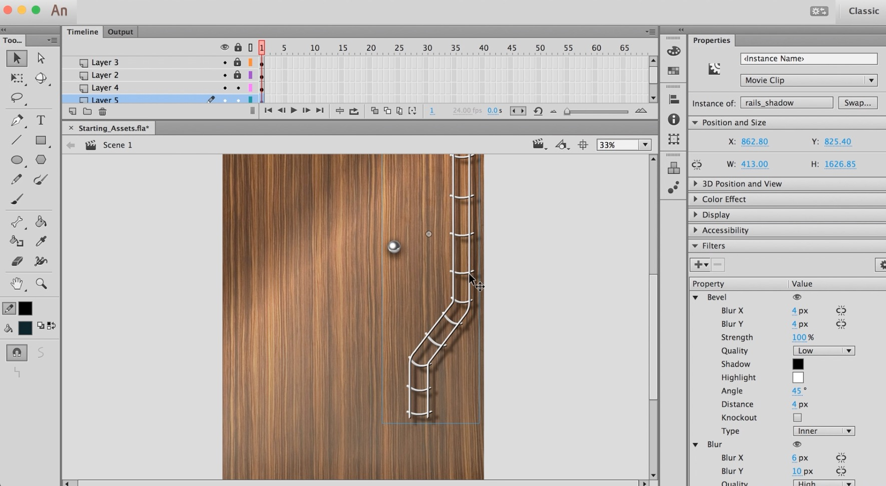 03 Pinball Game Art - Rails