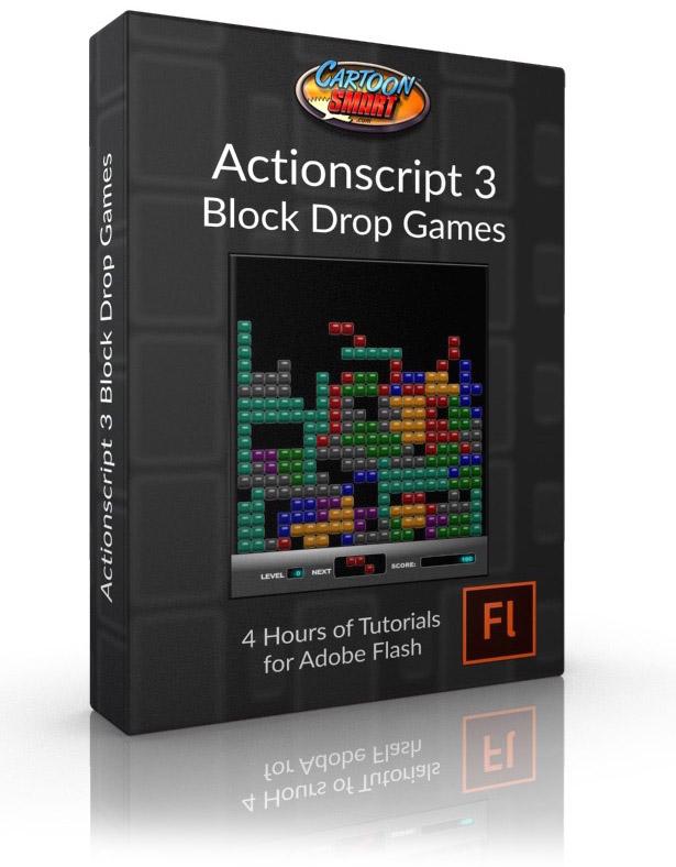 Actionscript 3 Block Drop Games Video Tutorial