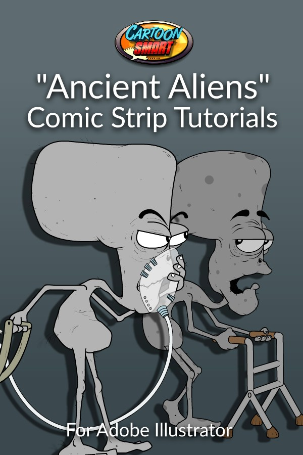 Ancient Aliens Comics Strip Tutorial with Adobe Illustrator