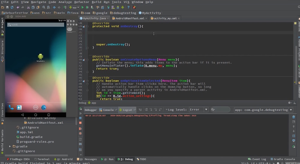 Android Studio Tutorials Screenshot 6
