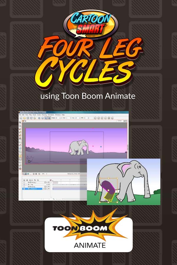 Four Leg Walk Cycles Video Tutorials for Toon Boom Animate