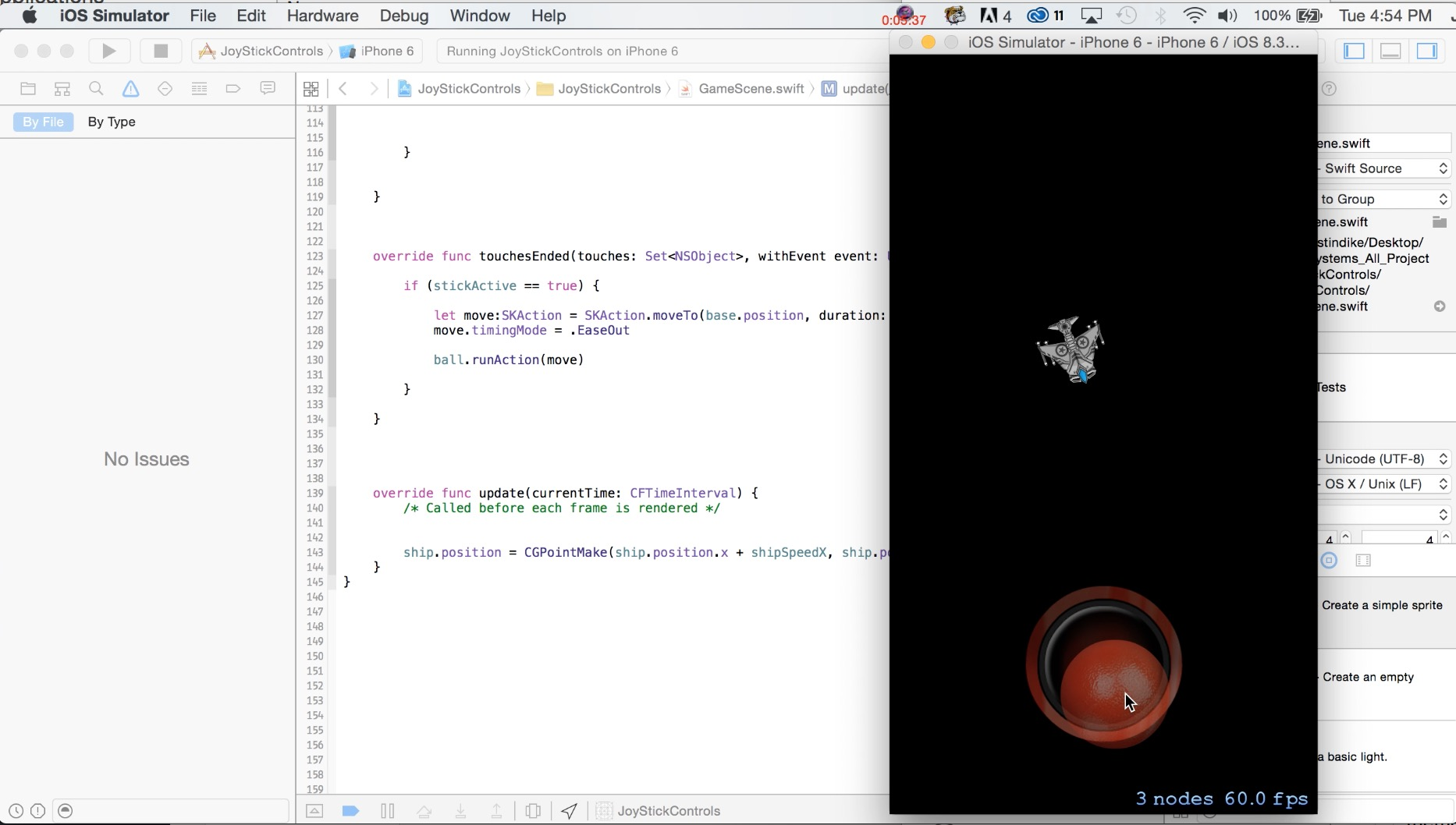 How to Create a Virtual iOS Joystick with Swift and Sprite