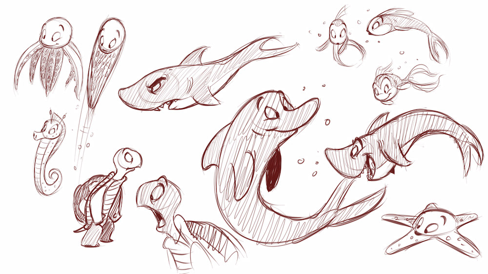 How to Draw Cartoon Sea Creatures