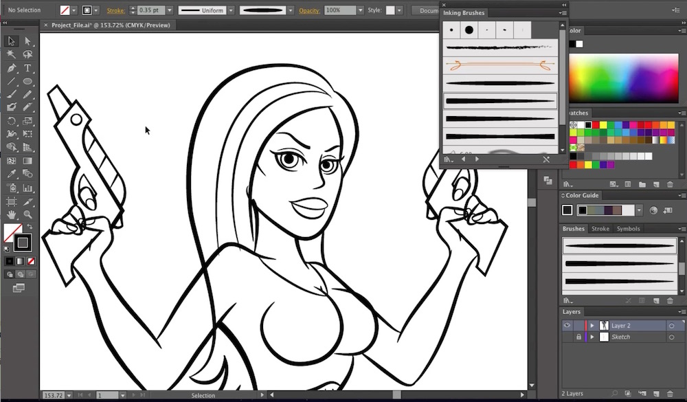How to Draw a Pin Up Girl in Illustrator Part 1