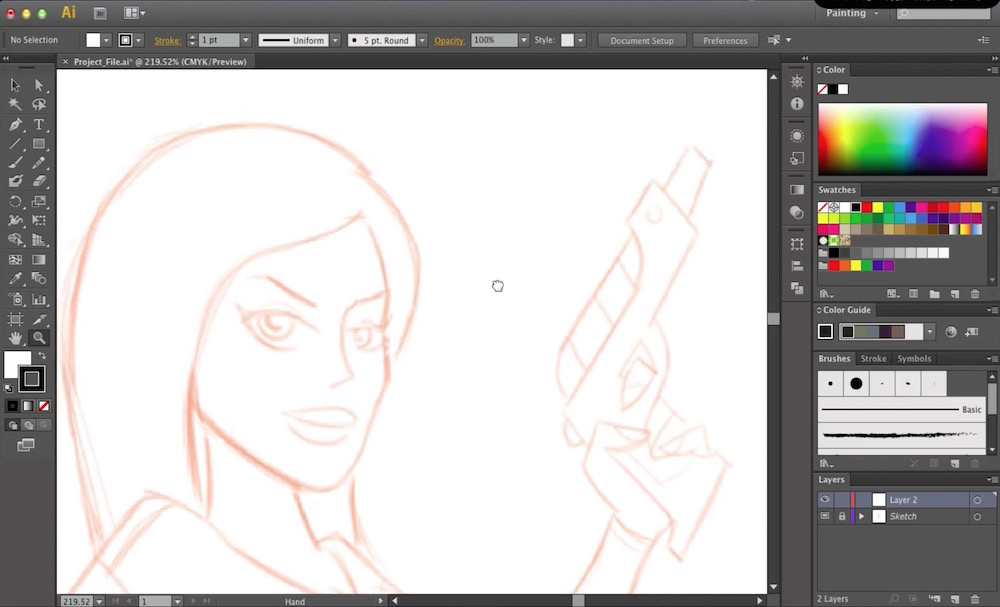 How to Draw a Pin Up Girl in Illustrator Part 2