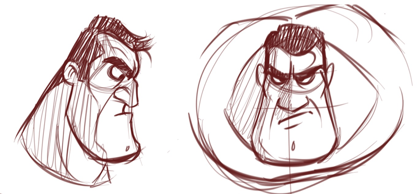 How to draw faces of macho men