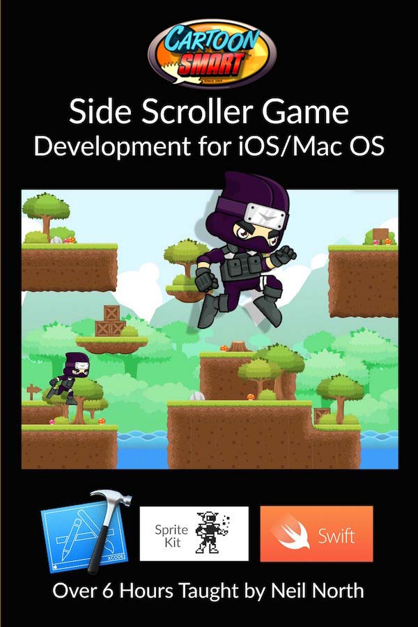 Side Scroller Game Developer Video Tutorials for iOS and Mac OS