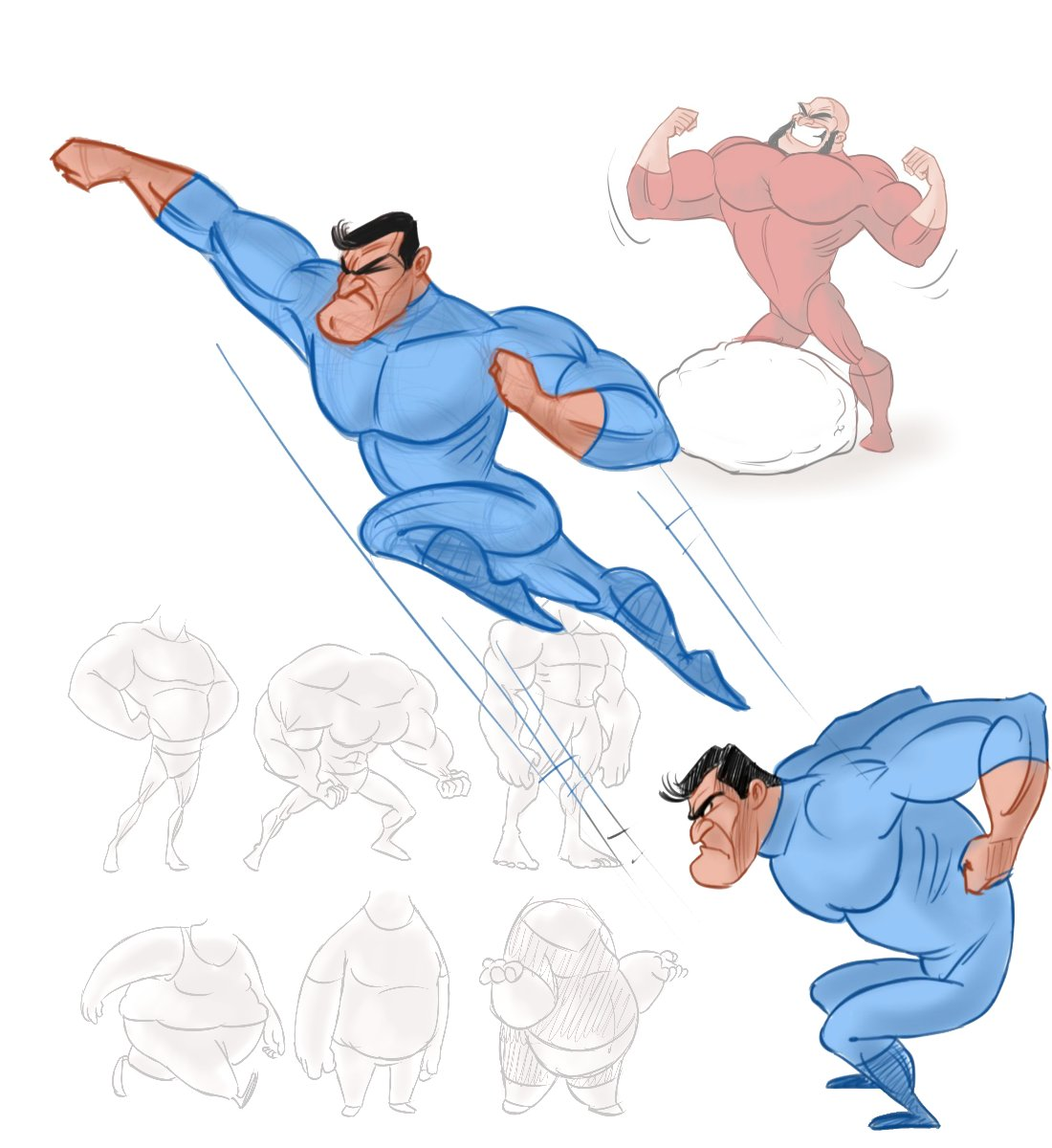 How to Draw Macho Men and Overweight Characters