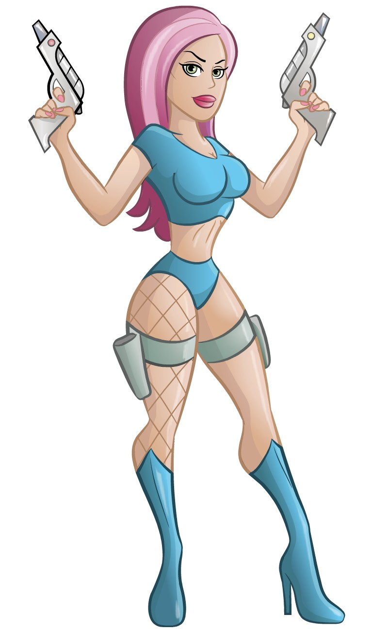 Space Girl How To Draw A Pin Up Style Character Subscriber
