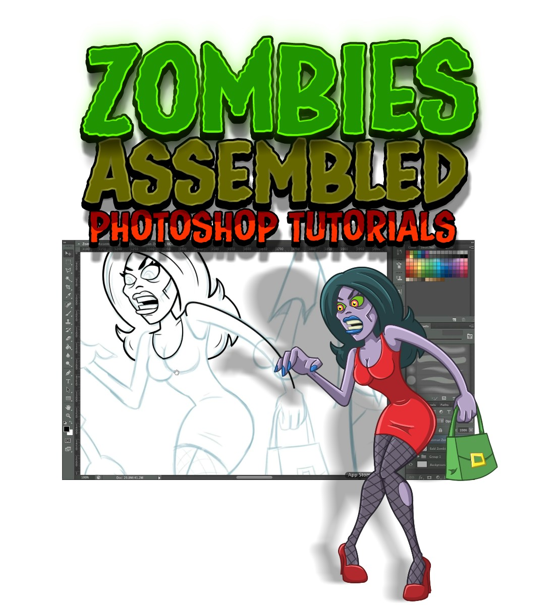 Course Details for How to Draw Zombies Photoshop Tutorial