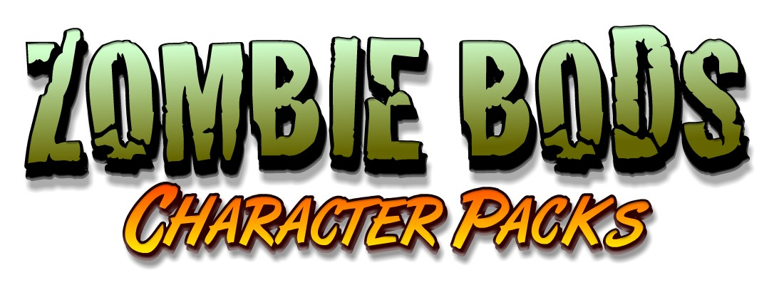 Zombie Bods - Toon Boom Animate  Character Pack Template