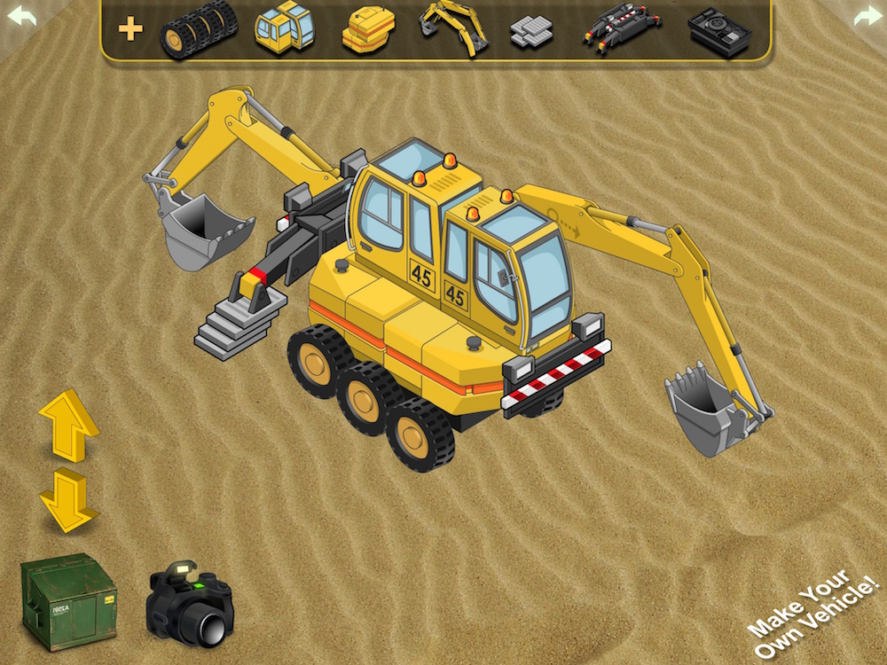 Dozer Game made with the iOS Story Tellers Kit