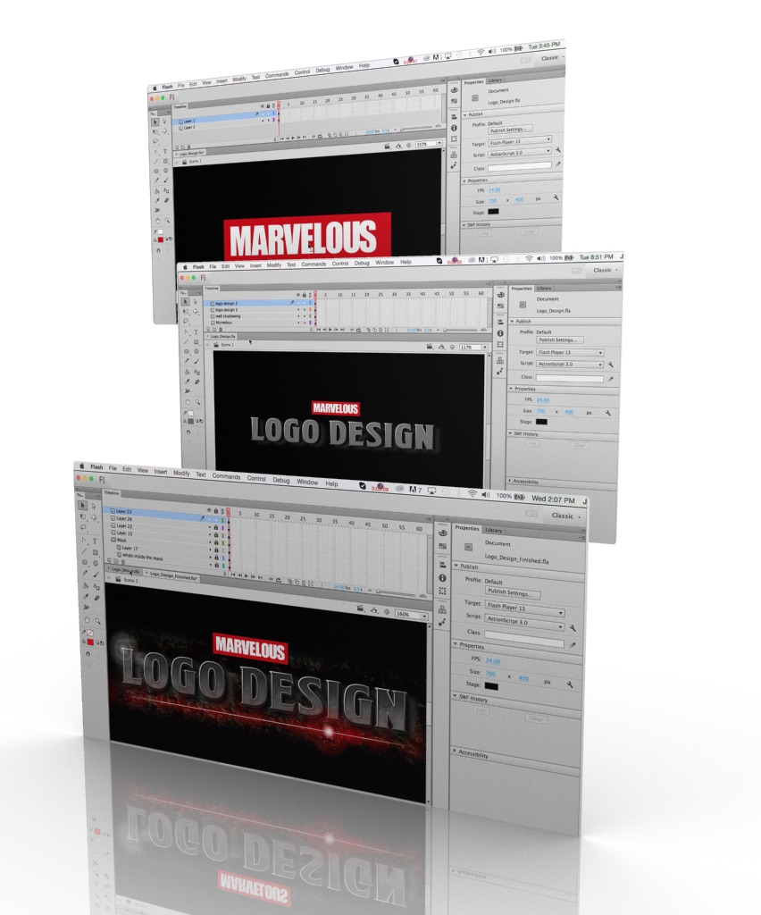 How to create Logos in Adobe Flash