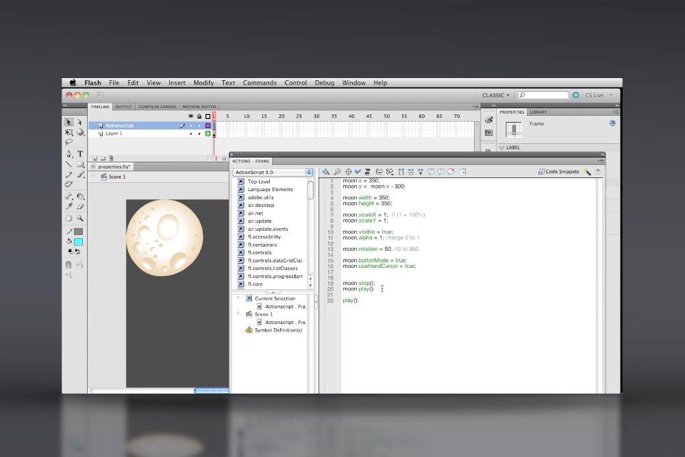 Actionscript 3 Basics Video Tutorial Course 1