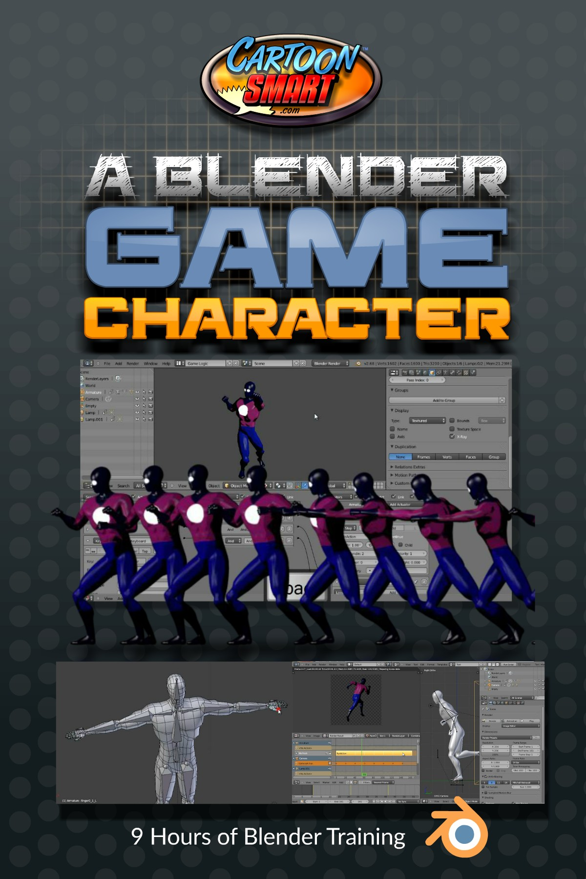 A Blender Game Character is now available for Subscribers