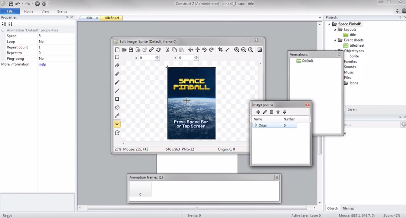 Create a Space Pinball Game with Construct 2 ...