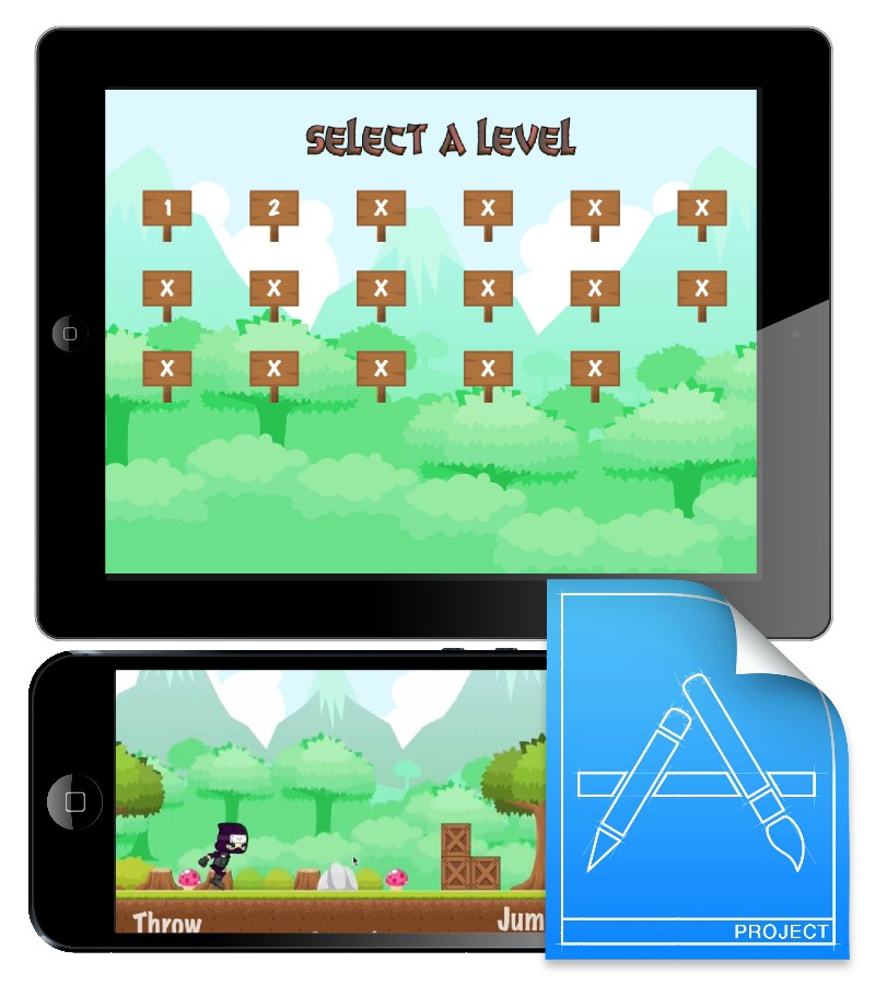 CartoonSmart Side Scroller Tutorial Xcode Projects