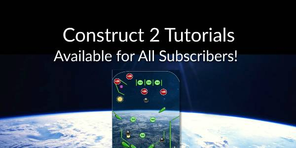 Construct 2 tutorials added for all CartoonSmart subscribers!