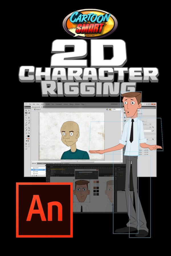 Adobe Animate Animation Tutorial - 2D Character Rigging