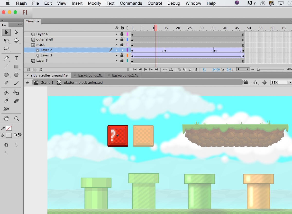 Side Scroller Game Art Video Tutorial Preview Animated Blok