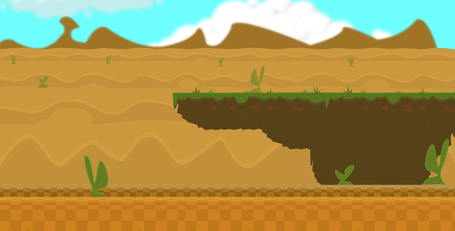 Side Scroller Game Art Video Tutorial Preview Desert Level