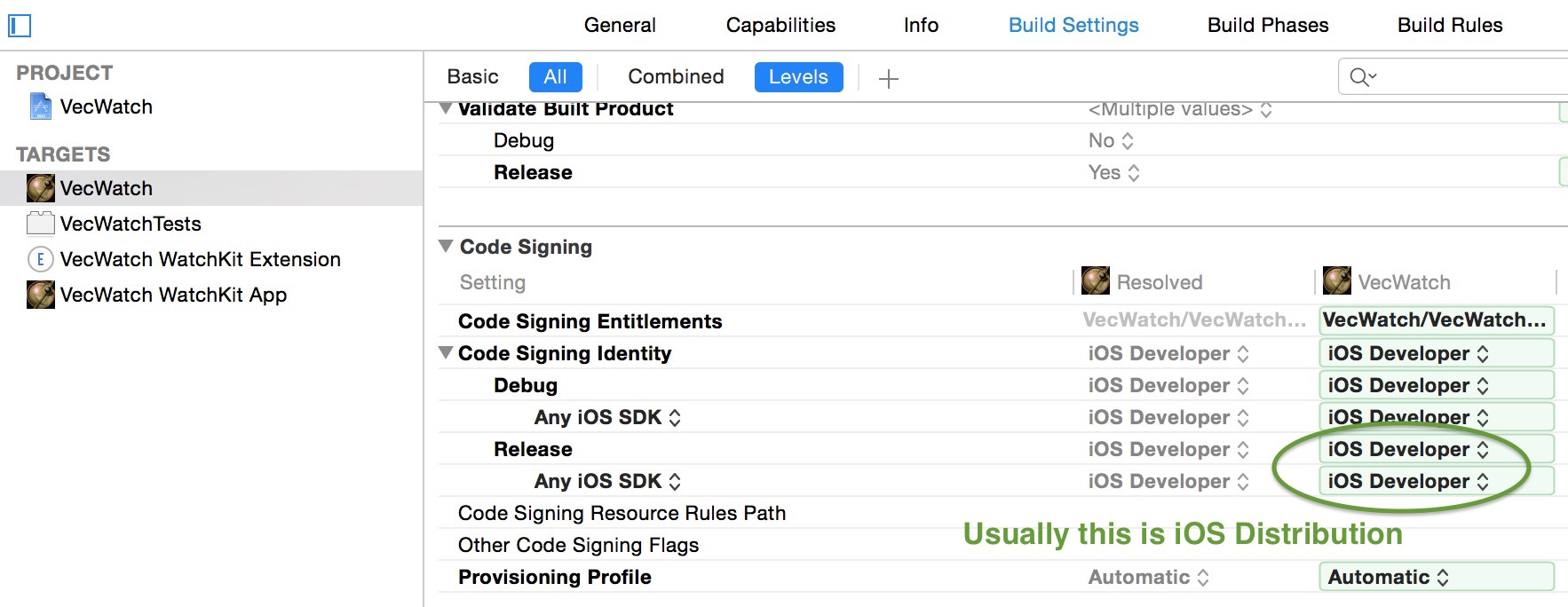 Xcode Developer Profile for Release